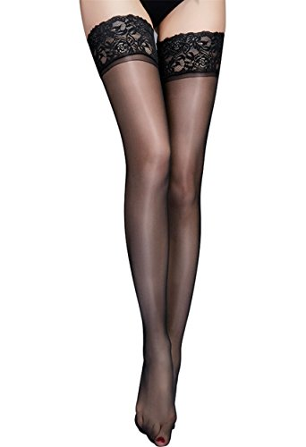 Niveltm Women's Sexy Lingerie Sheer Stay Up Thigh-High Lace Stockings - Stocking Stuffers Sexy Women For