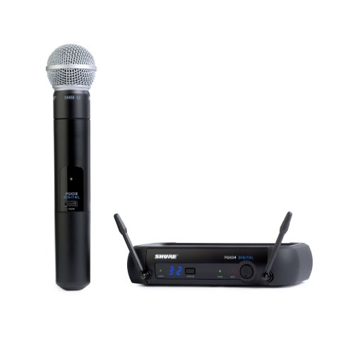 Shure PGXD24/SM58-X8 Digital Handheld Wireless System with SM58 Vocal - Diversity Microphone Dual Receiver Wireless