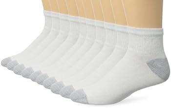 10-Pack Hanes Men's Ankle / Low Cut / No Show Socks
