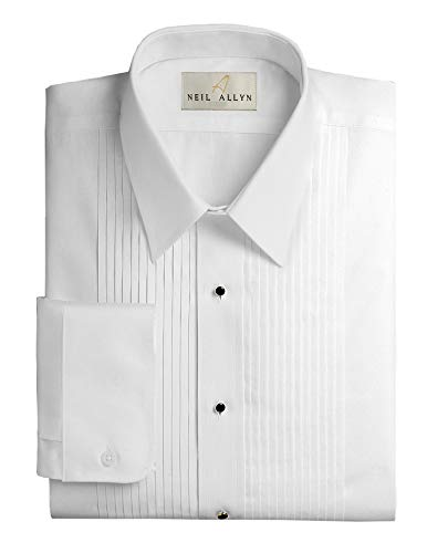 Neil Allyn Men's Slim FIT Lay-Down Collar 1/4