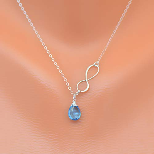 personalized infinity birthstone necklace, mothers necklace, bridesmaid gift set