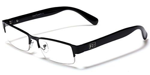 Rectangular Half Frame Reading Glasses Fashion Designer - Eyeglasses Men's Rectangular