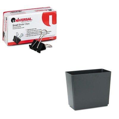 KITRCP25051UNV10200 - Value Kit - Rubbermaid Designer 2 Wastebasket (RCP25051) and Universal Small Binder Clips (UNV10200)