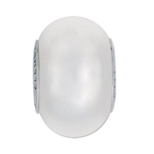 (Swarovski BeCharmed GemColor Pearl Large Hole Bead 14mm White (Pandora style bead) )