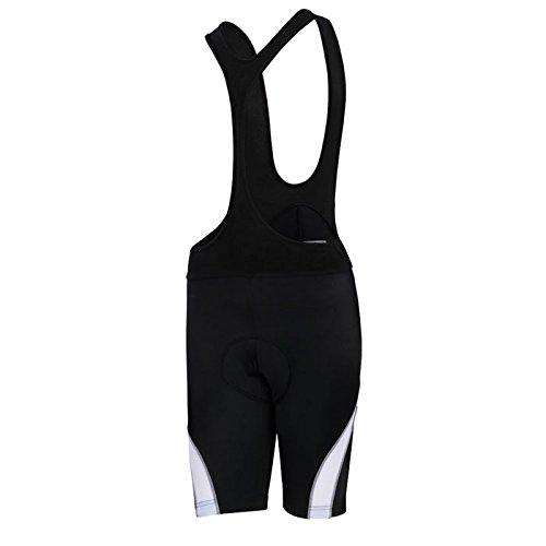 (Women's 6D Padded Classic Bib Cycling Bib Shorts Black/White)