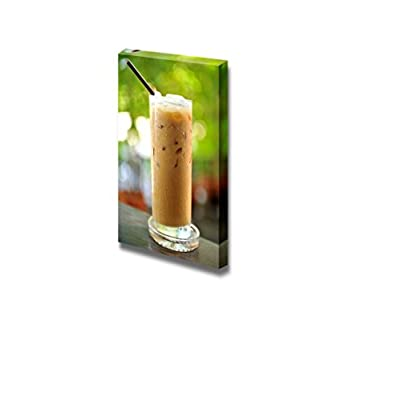 Canvas Prints Wall Art - Cold Coffee Drink with Ice in Summer - 48