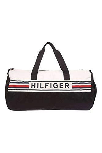 Tommy Hilfiger Polyester 53 cms Navy + White Gym Shoulder Bag (TH/KENDALL0815) Price & Reviews
