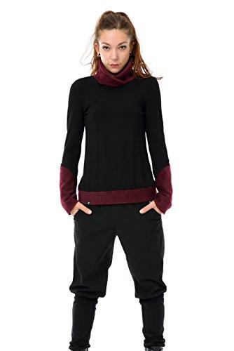 3elfen de manga In Mujer Sweater Fleece larga Winter Burdeos Black Sweatshirt Made Camiseta Berlin zwqrf1zx