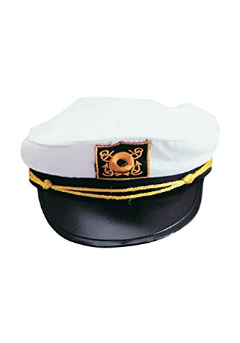 [Adult Yacht Captain Hat Costume Accessory-One size] (Ship Captain Costumes)