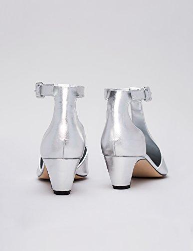 Argento Punta A Scarpe Caviglia 022 Cinturino Donna Find Alla silver Con aE8xnq
