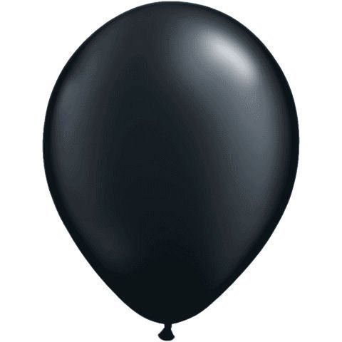 Qualatex 11 Round Balloons, Radiant Colors - Pearlized (Onyx Black Pearl) by (Qualatex Radiant Pearl)
