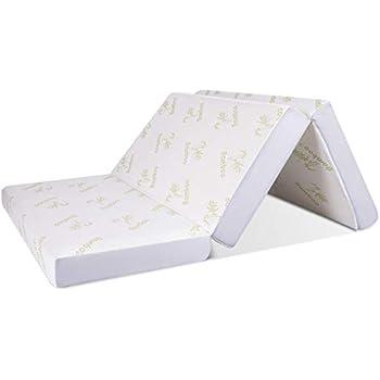 Amazon Com Giantex Memory Foam Mattress Tri Folding Sofa