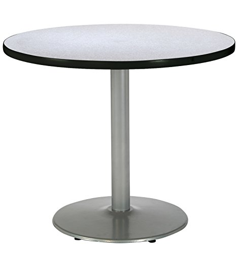 KFI Seating Round Pedestal Table with Round Silver Base, Commercial Grade, 42-Inch, Grey Nebula Laminate, Made in the USA Review