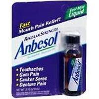 Anbesol Liquid Force régulière orale Anesthtic Cool Mint - 0,31 Oz