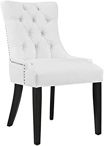 Hawthorne Collections Faux Leather Upholstered Dining Side Chair in White