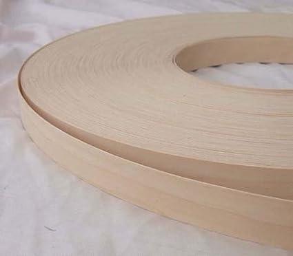 Pre Glued Iron on Birch Wood Veneer Edging Tape 18mm wide x 10metres...Free Postage vale veneers