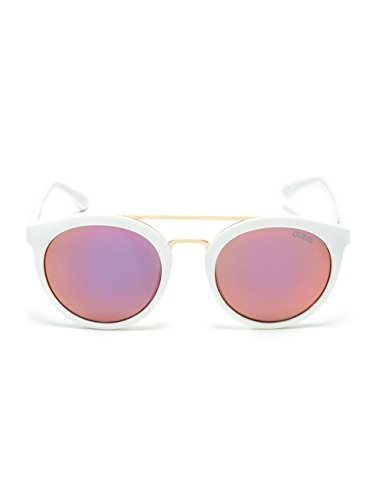 GUESS Women's Kara Round Plastic - Sunglasses Frame Guess White