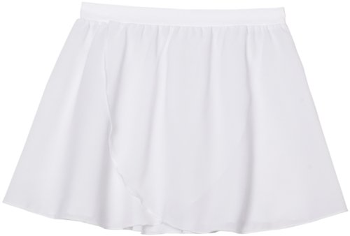 Sansha Big Girls' Serenity Pull-on Skirt, White, Medium 8-10(E) (Skirt Sansha)