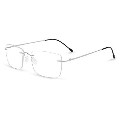 OCCI CHIARI Titanium Rimless Glasses Frame Fashion Eyewear Men Eyeglasses ()