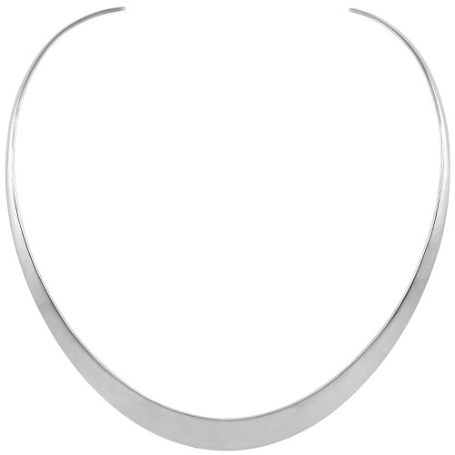 Sterling Silver Collar Necklace Choker Handmade 7/16 inch wide