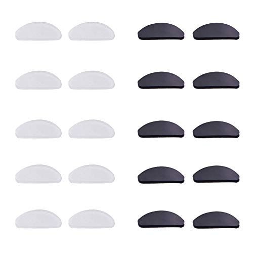 Nosepads Adhesive Silicone Eyeglass Nose Pads for Glasses Eyeglasses Sunglasses,10 Pairs ()