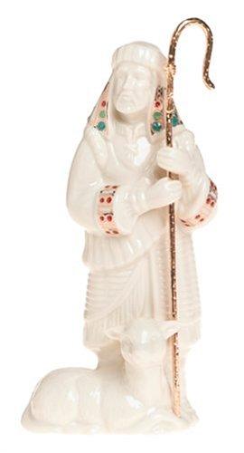 Lenox China Jewels Nativity Porcelain Shepherd with Staff (Lenox Nativity)