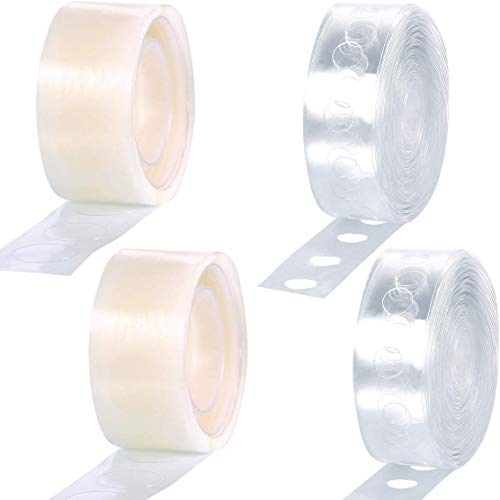 Onwon Balloon Arch Garland Decorating Strip Kit 2 Rolls 32 Feet Balloon Tape Strips and 2 Rolls Balloon Glue Point Dots Stickers for Wedding and Party Decorations Easy to Assemble -