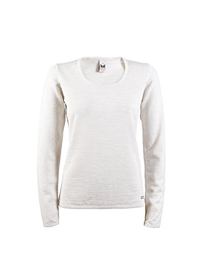 TALLA XL. Dale of Norway - Jersey para Mujer Astrid, Color Blanco Jaspeado, XL, 92431-A-XL
