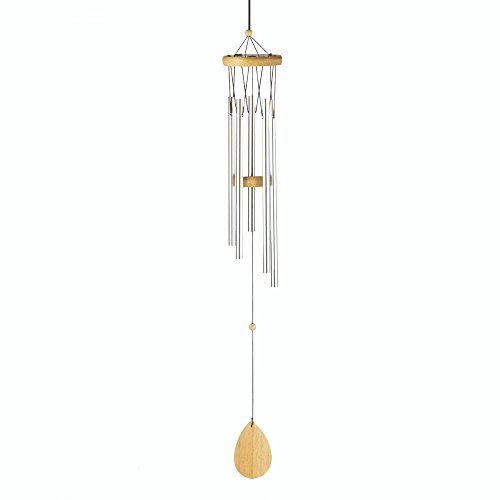 Summerfield Terrace Wind Metal Chimes, Craft Tube Wind Chimes Small Outdoor - Wood and Aluminum (Sold by Case, Pack of 24)