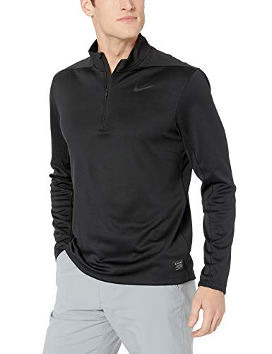 Nike Men's Dry Top Half Zip core, Black/Black/Black/Black, Small by Nike (Image #1)