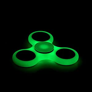 Focus Spinner - (4 Colors) Fidget Spinner Toy For Anxiety Stress Relief Attention Focus For Children / Adult Gift ADHD (Glow in Dark)