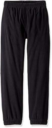 Columbia Boys' Big Glacial Fleece Banded Bottom Pant, Black, X-Large