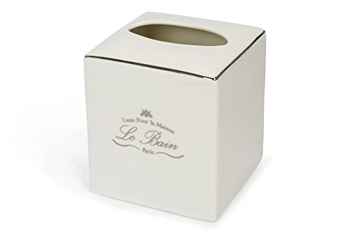 Royal Bath Paris Connection Le Bain Heavy Porcelain Tissue Holder (5.5