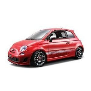 2008 Fiat Abarth 500 Red 1/18 Diecast Car Model (Best Fiat 500 Model)