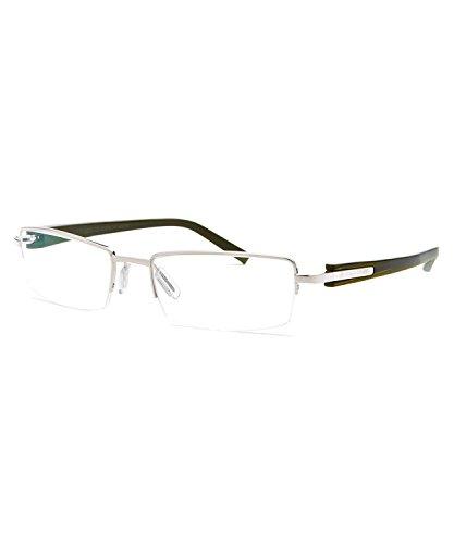 f9f4b60feb7 Tag Heuer Trends Rx Metal Half Rim Eyeglasses Frames 8203 005 Grey Olive  Green Ruthenium