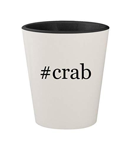 #crab - Ceramic Hashtag White Outer & Black Inner 1.5oz Shot Glass