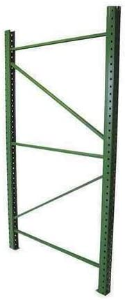 Height 96 in x Depth 48 in x Width 3 in HUSKY RACK /& WIRE Welded Upright Frame Green IU18480096-G