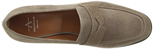 Women's Aquatalia Pebbled Taupe On Slip Suede Sharon Loafer Uqgqa