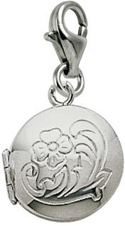 Rembrandt Charms Locket Charm with Lobster Clasp, Sterling Silver