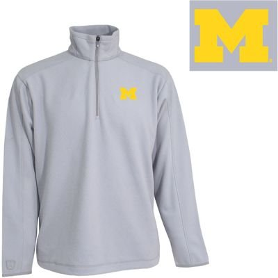 Antigua NCAA Michigan Wolverines Frost Polar Fleece, Silver, (Antigua Fleece)