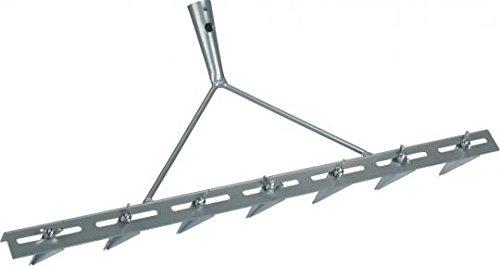 Triuso - Rastrello per solchi a 7 denti zincati, larghezza 67 cm, regolabile, per aratura e semina