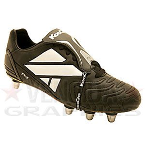 Kooga ft-x Low Cut morbido Toe Rugby, [Nero], Black, 7 UK