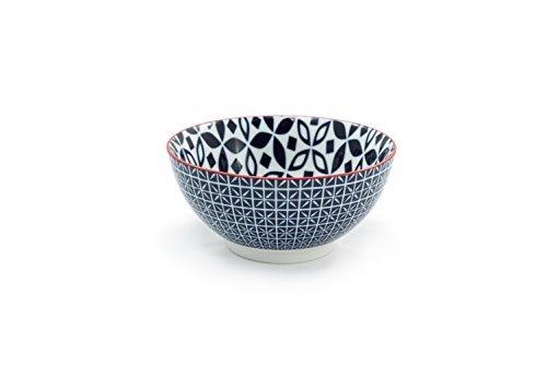 Tablescapes GT30331B4PK Serena Bowls (4 Pack) Blue Night [並行輸入品] B077M3KPF8