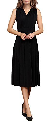 V-Neck Empire Waist Dress - 4