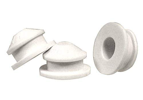 National Artcraft White PVC Stopper Or Plug fits 1/2 Inch Round x 3/16 Inch Deep Opening (Pkg/10)