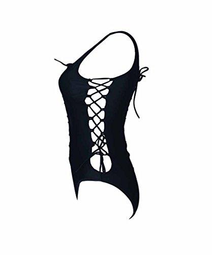 Lady exy Monikini One Piece Bikini Swimsuit Summer Beach Wear Black,L by UPS by CFR (Image #6)