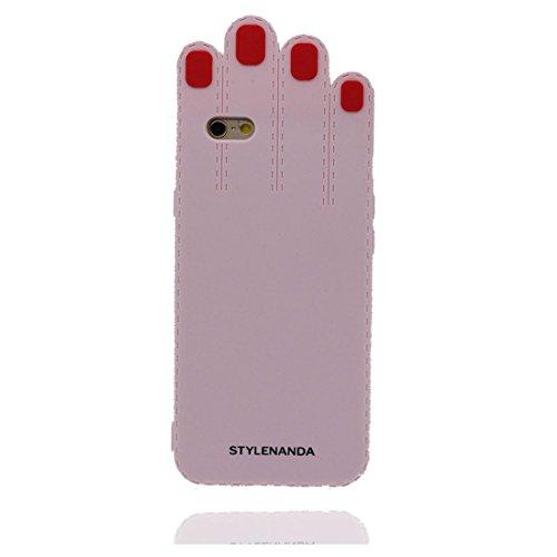 """iPhone 6s Coque, Étui pour iPhone 6 (4.7""""), rose paume iPhone 6 Case (4.7""""), 3D Cartoon Cover TPU Flexible anti-chocs, des empreintes digitales et stylet"""