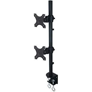 Amazon Com Vertical Dual Lcd Monitor Stand Holds Up To