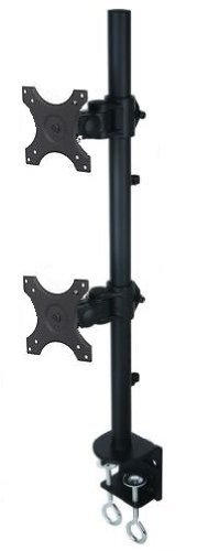 Vertical Dual LCD Monitor Stand Holds Up to 24 Inch Monitors