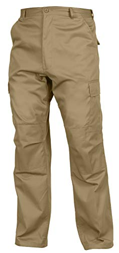 Commando Uniform - Rothco Relaxed Fit Zipper Fly BDU Pants, Khaki, 3X-Large